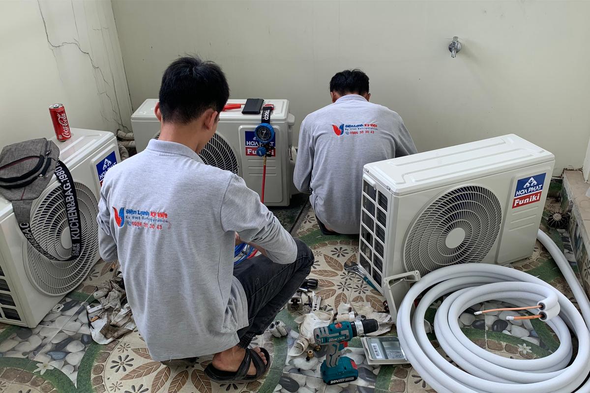 Tháo lắp máy lạnh tại Cần Đước