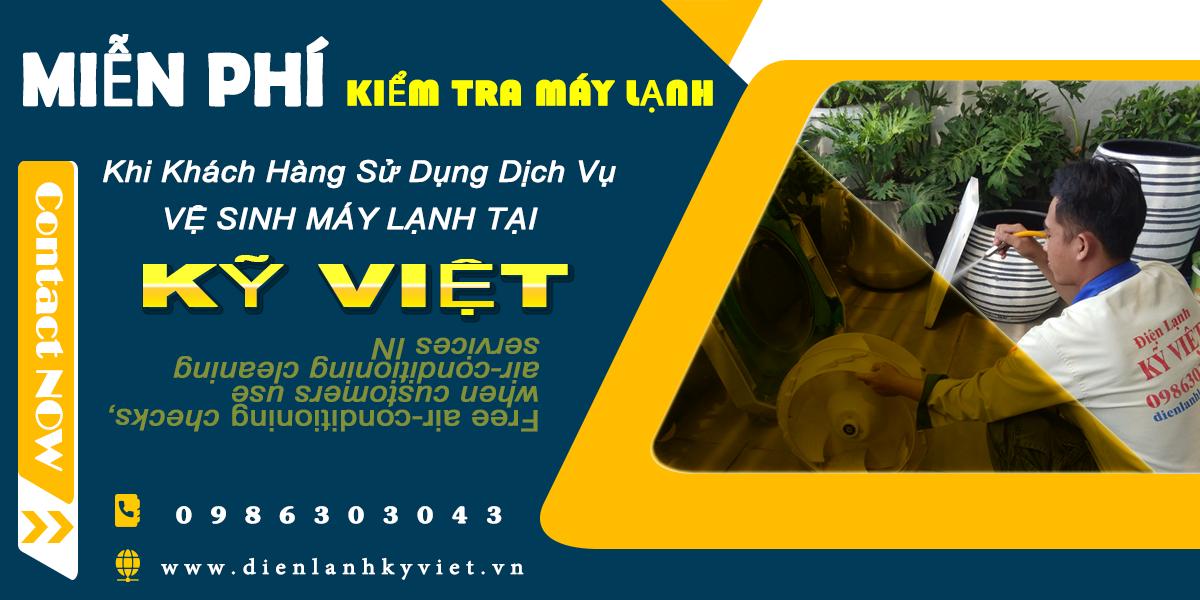 Dịch vụ vệ sinh máy lạnh tại Kỹ Việt